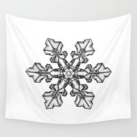 snow Wall Tapestries featuring Snow by ArtSchool