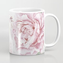 Pretty Pink Roses Floral Garden Coffee Mug