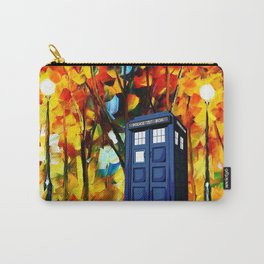 Tardis starry night in the forest Carry-All Pouch
