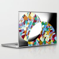 mozart Laptop & iPad Skins featuring Mozart abstraction by Laura Roode