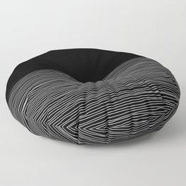 Simple hand drawn lines. Floor Pillow