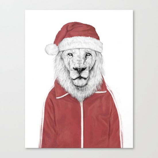 Santa lion Canvas Print