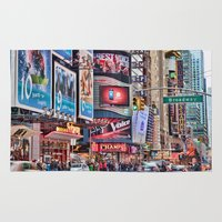 broadway Area & Throw Rugs featuring Broadway, NYC by June Marie