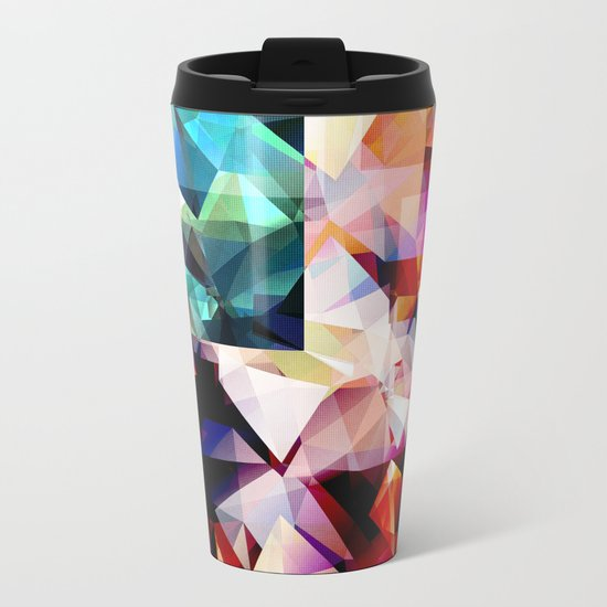 Colorful Geometric Abstract Metal Travel Mug