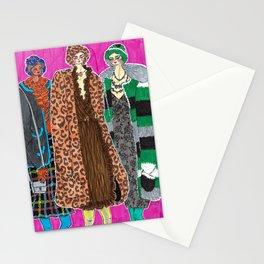 Anna Sui Girls in Fall 2019 – Original Fashion art, Fashion Illustration, Fashion wall art Stationery Cards