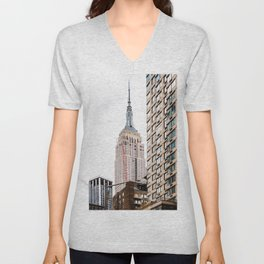 Empire State Building in New York Unisex V-Neck