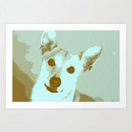 Pop goes the dog Art Print