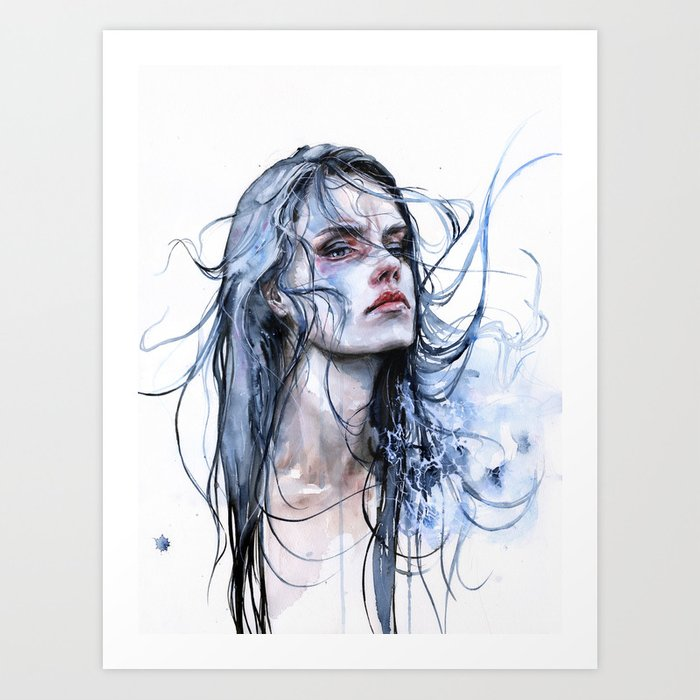 Discover the motif OBSTINATE IMPASSE by Agnes Cecile as a print at TOPPOSTER