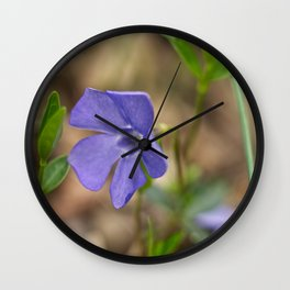 small blue flower in the forest Wall Clock
