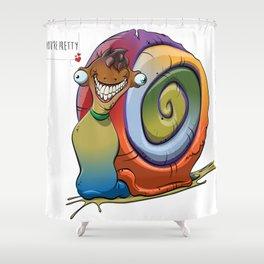 Compliment Snail Shower Curtain