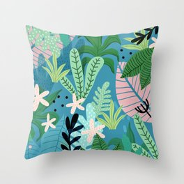 Into the jungle - twilight Throw Pillow
