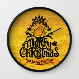 -A25- Arteresting Merry Christmas Artwork Carpet Texture. Wall Clock