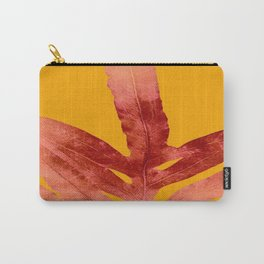 Green Fern on Red On Fire Carry-All Pouch