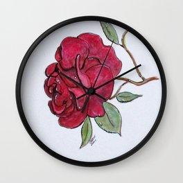 Wet Rose Wall Clock