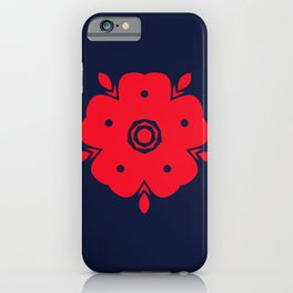 Japanese Samurai flower red pattern iPhone Case