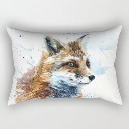 Fox watercolor Rectangular Pillow