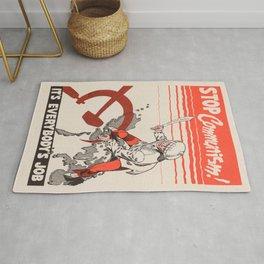 Vintage poster - Stop Communism Rug