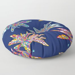 Modern floral colorful abstract pattren design Floor Pillow