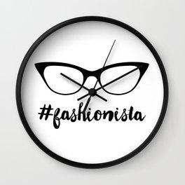 #fashionista Wall Clock