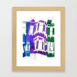 London Cricklewood houses Framed Art Print