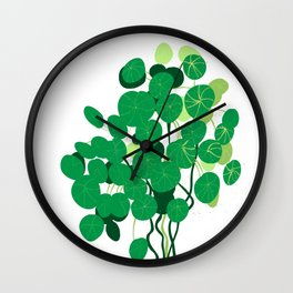 pilea on white background Wall Clock