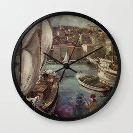 Pirates and Ninjas Wall Clock