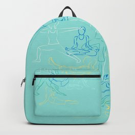 Turquoise Yoga Backpack