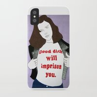 dick iPhone & iPod Cases featuring Dick by amykinkin