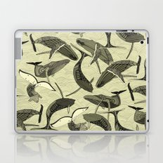 whales and waves natural Laptop & iPad Skin