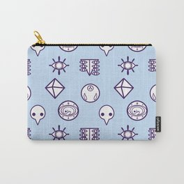 evangelion nerv angels pattern ayanami rei blue Carry-All Pouch