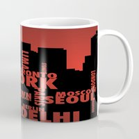 cities Mugs featuring Cities by Colin Webber