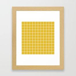 Grid Pattern Mustard Yellow 2 Framed Art Print