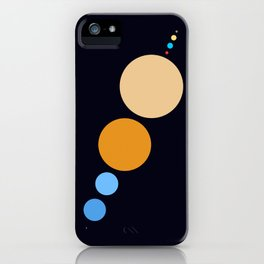 Planets To Scale (Diagonal) iPhone Case