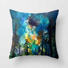 Night in Color Throw Pillow