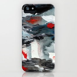 Red, Blue, Black. iPhone Case