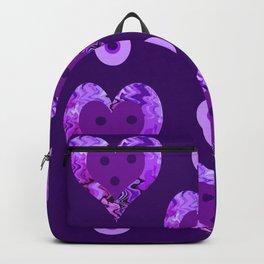 Violet heart buttons Backpack