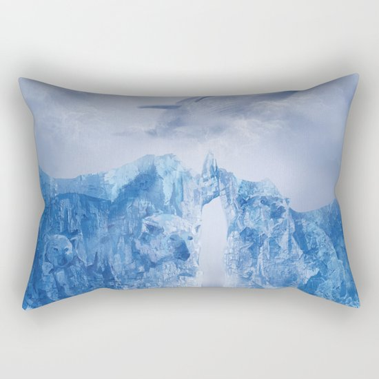 white landscape 1 Rectangular Pillow