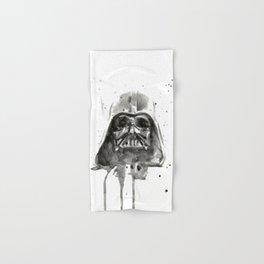 Vader Helmet Watercolor Hand & Bath Towel