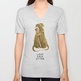 Love each otter Unisex V-Neck