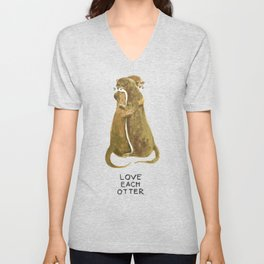 Love each otter Unisex V-Neck