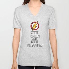 Flash Keep Running Unisex V-Neck