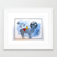 lama Framed Art Prints featuring LAMA. by FRAN MONDELLO