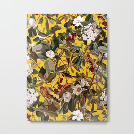 Floral and Birds XXVII-I Metal Print