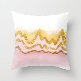 Pink Sand Land Throw Pillow