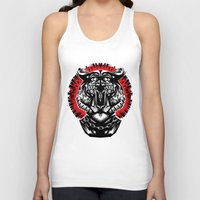 tiger Tank Tops featuring Tiger by Ali GULEC