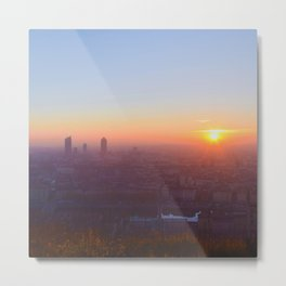 As the day is beginning Metal Print