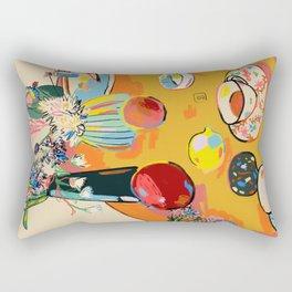 TEA AND FLOWERS AT HOME Rectangular Pillow