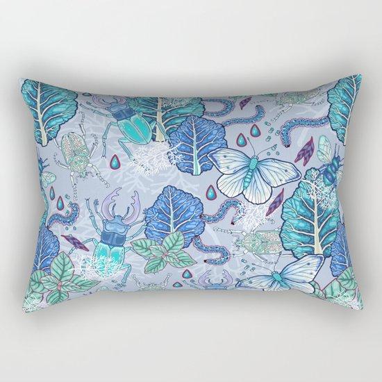 Frozen bugs in the garden Rectangular Pillow