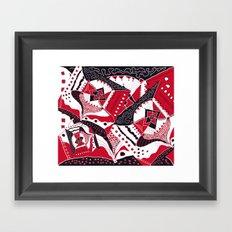 TRICHROMATIC DELIRIUM RED BLACK WHITE Framed Art Print