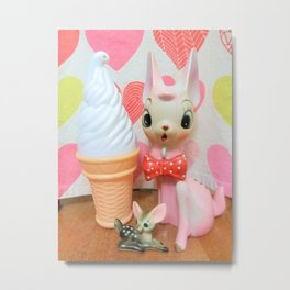 hearts fawn and ice cream Metal Print